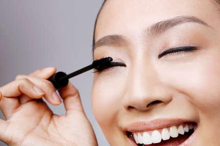 young woman makeup Reklamní fotografie