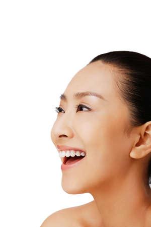 Oriental beauty make-up closeup Stock fotó