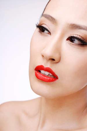 Oriental beauty makeup close-up