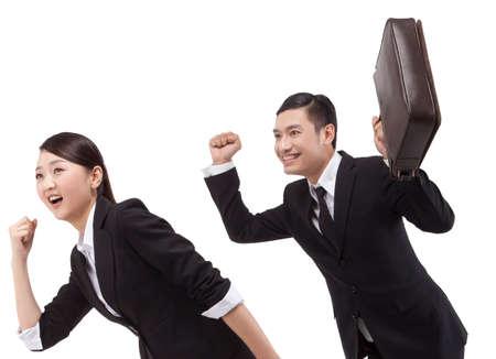 Businessman with a briefcase Foto de archivo