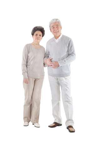 Oriental old couple portrait