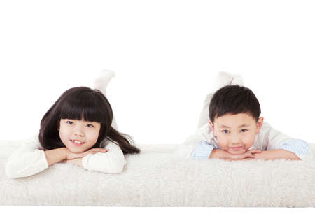 Brother and sister from a oriental family Banque d'images