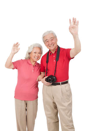 A group photo of a happy old couple high quality photo