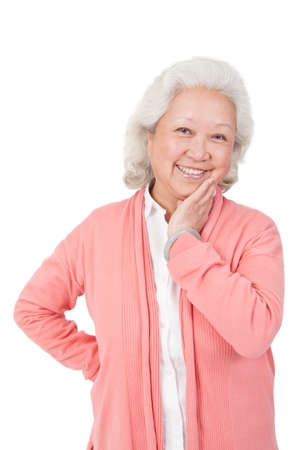 A portrait of a happy old woman high quality photo Stock Photo