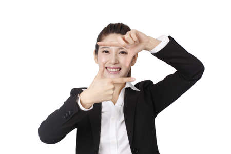 Portrait of a happy young business woman high quality photo