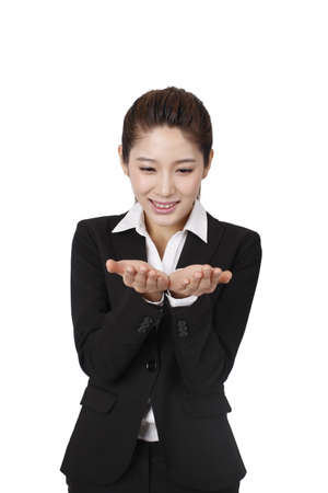 Portrait of a happy young business woman high quality photo Stock fotó