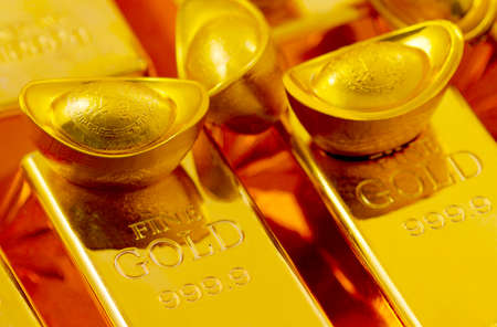 Gold bars and gold bullions high quality photo