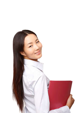 Business woman with folder high quality photo
