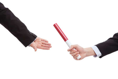 Business people in passing the baton high quality photo
