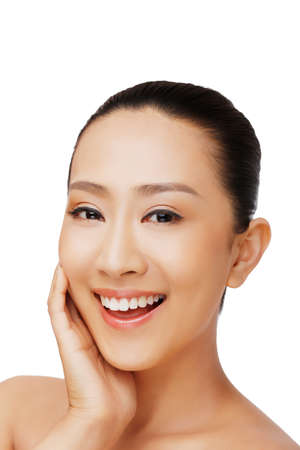 Oriental beauty make-up closeup high quality photo