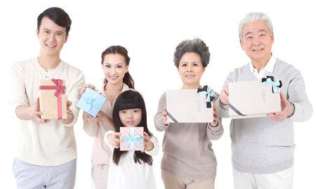 Happy family of five high quality photo Banco de Imagens