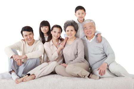 Portrait of Happy family high quality photo Banco de Imagens