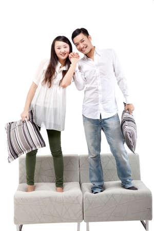 Oriental fashion young couple high quality photo