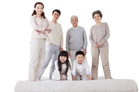 Portrait of Happy family high quality photo