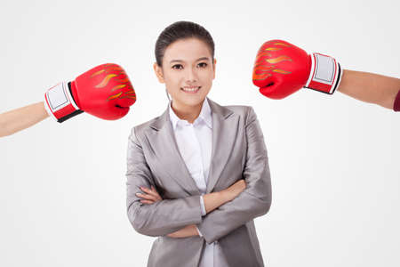 young Business female opponents high quality photo