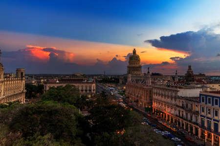 Coucher de soleil sur La Havane, Cuba Banque d'images - 70933747
