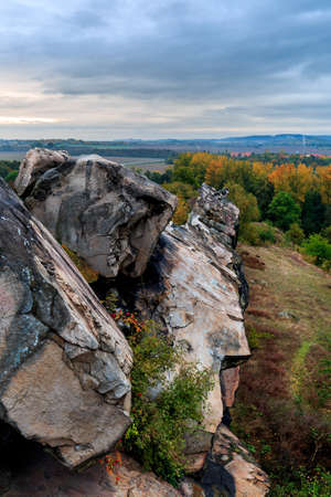 bode: The devils wall in the German region near Harz Quedlinburg