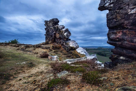 The devils wall in the German region near Harz Quedlinburg