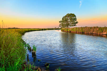 East Frisia or Eastern Friesland is a coastal region in the northwest of the German federal state of Lower Saxony. It is the middle section of Frisia between West Frisia in the Netherlands and North Frisia in Schleswig-Holstein. There are 465,000 people l Stock Photo
