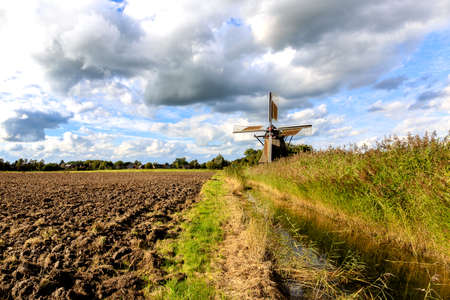 The Wedelfelder windmill at Neustadtgoedens near Sande in Frisia