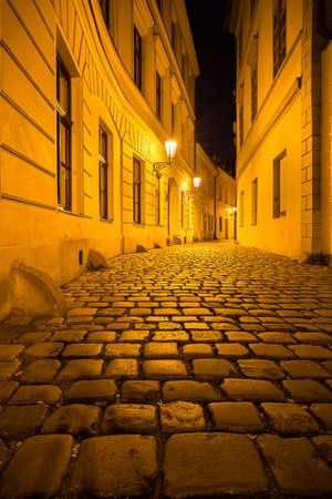 The city of prague at night Stock Photo
