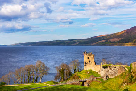 Urquhart Castle at Loich Ness in the scottish highlands