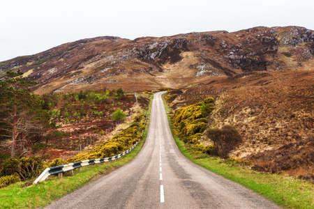 A Road through the scottish highlands near Loch Eriboll