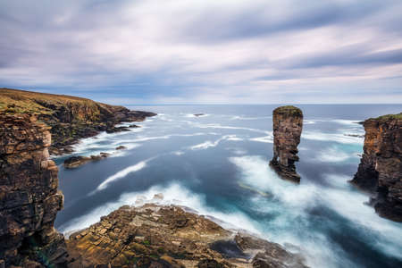 The Yesnaby Cliffs on the Orkney Islands