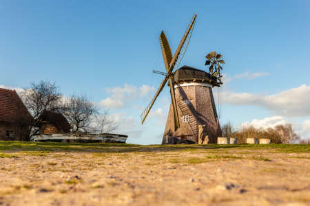The dutch Mill in the village Benz on the island Usedom in the baltic sea. 版權商用圖片