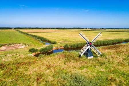 Little windmill on the dutch island Texel