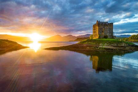 Castle Stalker near Portnacroish in Scotland 版權商用圖片