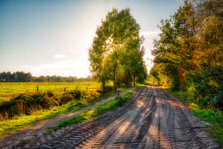 A Landscape in the Neudorfer Moor near Uplengen 版權商用圖片