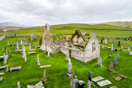 The ruins of a church in Balnakeil in Scotland