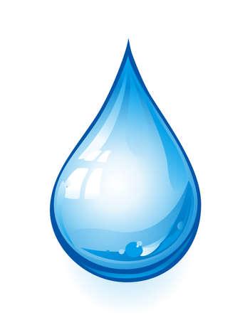 reflejo en el agua: gota Vectores