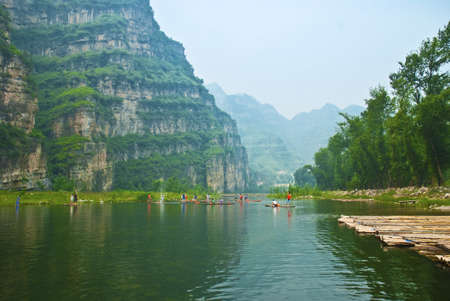 Beijing shidu natural scenery resort Stock Photo