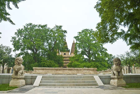 Wutasi originally called real feel Temple, located in Haidian District, Beijing Xizhimenwai long white stone bridge north bank of the east, creating the Yongle in the Ming Dynasty (1403-1424 years) photo