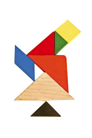 Tangram telescope composed of beautiful patterns