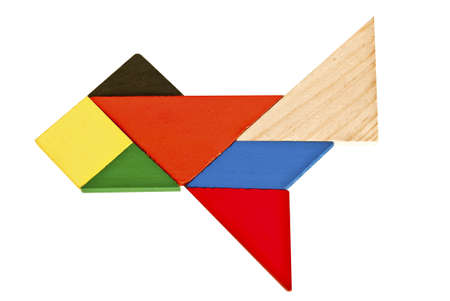 Tangram pattern composed of beautiful plane