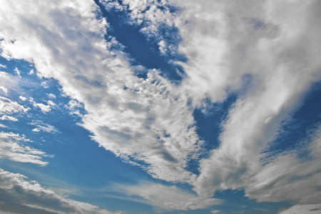 Magnificent blue sky and white cloud