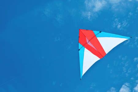 Kite flying under the sky