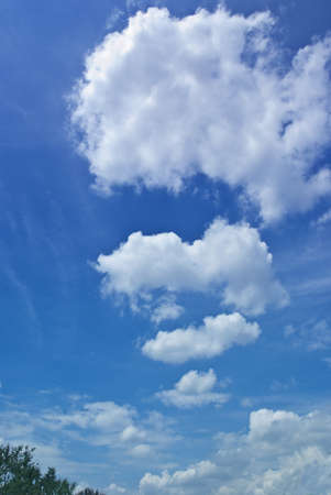 Beautiful white clouds and blue sky
