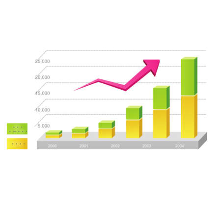Growth in the data table Stock Photo - 8062398