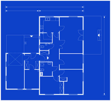A blueprint for building design Stock Photo - 8062423
