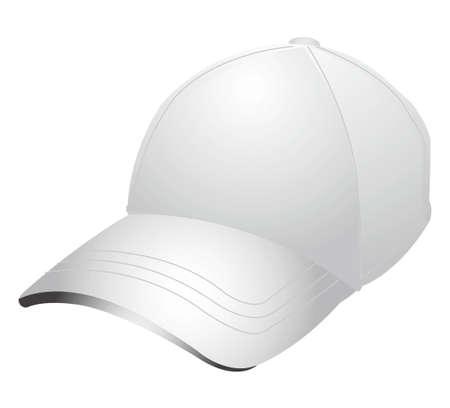 White baseball cap Stock Photo