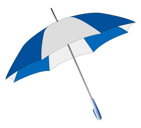 Umbrella on a white background Stock Photo - 8062392