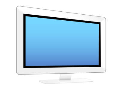 PC LCD monitors in the white background Stock Photo