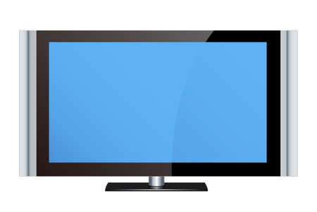 PC LCD monitors in the white background 스톡 사진