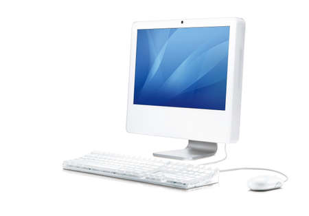 PC LCD monitors in the white background Stock Photo - 8062361