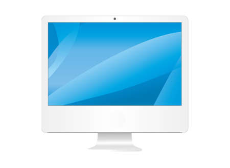 PC LCD monitors in the white background Stock Photo - 8062401