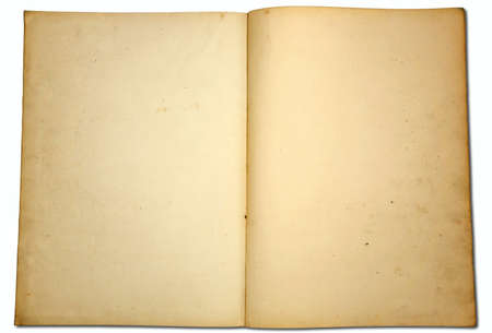 An open book of old yellow